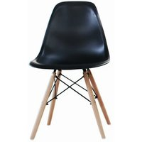 'Nordic Dining Chairs   Black   Living Social