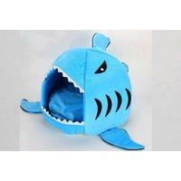 'Shark Pet Bed   Blue   Living Social