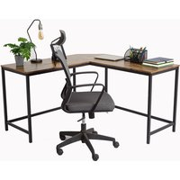 Image of Industrial-Style Computer Desk - Rectangular or L-Shape! | Wowcher