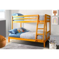 Image of Wooden Triple Bunk Bed - Natural, Caramel, White or Grey | Wowcher