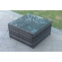 Image of Square Rattan Coffee Table - Grey, Brown or Black | Wowcher
