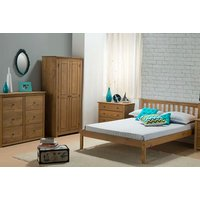 Image of Rustic Pine Bedroom Furniture - Wardrobe, Chest, Bedside Table! | Wowcher