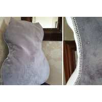 Image of Back Support Faux Velvet Cushion | Wowcher