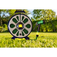 Image of 50ft Flay Lay Garden Hose - 7 Spray Settings! | Wowcher