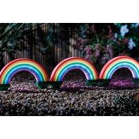 Image of 3-Pack Rainbow Solar Powered Garden Lights | Wowcher