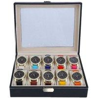 Image of PU Watch Leather Grid Storage Case - 3 Sizes! | Wowcher