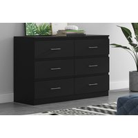 Image of 6 Drawer Chest - Black, Grey or White | Wowcher