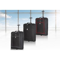 '£11.99 For A Black 55cm Cabin Trolley From Luggage & Bags Ltd