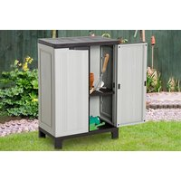 '£109 For A Plastic Storage Shed With Adjustable Shelves From Mhstar!