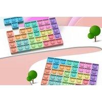 10 Pack of Tetris Style Push Pop Fidget Sensory Toy | Wowcher