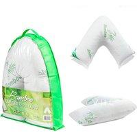 Image of Bamboo Memory foam V-Pillow | Wowcher
