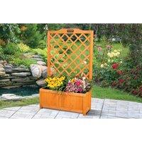Image of Rectangular Garden Planter With Trellis Support | Wowcher