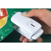 Image of Portable Handheld Heat Sealer & Cutter - Green, Pink or White | Wowcher