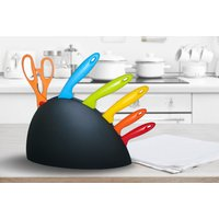 £8 instead of £39.99 (from BellsBay) for a six-piece rainbow knife set with stand - save 80% - Cutlery Gifts