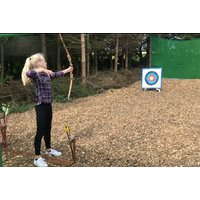 £19 for a two hour adventure firing package for one person, £29 for two people, at Yorkshire Activity Centre, York - includes archery and axe-throwing and save up to 52% - Activity Gifts