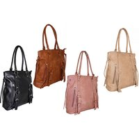 £16 instead of £58.99 for a tassle handbag - choose from four fabulous colours from Pearl Info - save 73% - Handbags Gifts