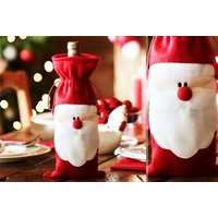£2.99 instead of £12.99 (from Snap One Up) for a Santa Claus novelty wine bottle cover, £5 for a pack of two - save up to 79% - Cutlery Gifts