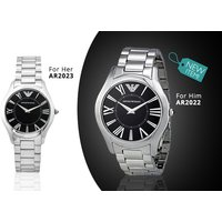 £149 instead of up to £299 (from Gray Kingdom) for a his or hers stainless steel Emporio Armani watch, or £275 for both - save up to 50% - Armani Gifts
