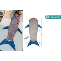 £12 instead of £21 (from Fair Retail) for a kids' shark blanket - save 43% + DELIVERY IS INCLUDED! - Shark Gifts