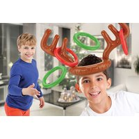 £4.99 instead of from £18 (from Vivo Mounts) for an inflatable reindeer antler toss game - save 72% - Reindeer Gifts