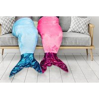 £9 instead of £39.99 (from Groundlevel) for a kid's mermaid blanket with sequin tail - save 77% - Blanket Gifts