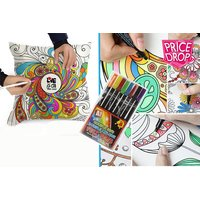 £8.99 instead of £49.99 for a graffiti pillowcase with 8 colouring pens from London Exchain Store - save 82% - Pens Gifts