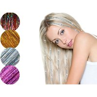 £3.99 instead of £44.97 (from Forever Cosmetics) for a three pack of hair tinsel bling extensions - save 91% - Bling Gifts