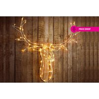 £19.99 instead of £70 (from Zoozio) for a large 80-LED stag head - choose from two colours and save 71% - Stag Gifts