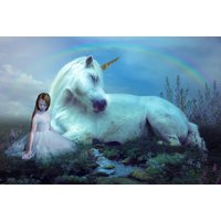 £9 instead of £85 for a 45-minute fairies and unicorns photoshoot for up to two children including one 8 x 6 mounted print and a £50 voucher towards all digital images or an album at Boyd Photographers, Glasgow - save 89% - Unicorns Gifts