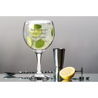 £5.99 instead of £19.91 (from CNC Group) for an engraved Spanish Balloon gin and tonic glass - save 70% - Spanish Gifts