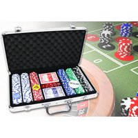 £16.99 instead of £83.30 for a 300-piece poker set and casino style case from Who Needs Shops Ltd - save 80% - Poker Gifts