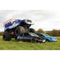 £19 instead of £39.99 for a monster truck ride and car crawl experience for one person, £35 for two people, £65 for four people or £99 for a driving experience at Chaos Leisure, Shropshire - save up to 52% - Monster Truck Gifts