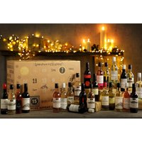 £69 for a wine advent calendar including 24 mini bottles of white, red, rosé and mulled wine from First4Hampers - Mulled Wine Gifts