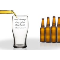 £5.99 instead of £11.91 (from CNC Group) for an engraved beer pint glass- save 50% - Engraved Gifts