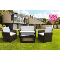 £179 instead of £799 for a 4pc roma rattan garden furniture set & cushions rattan from Evre - save 78% - Cushions Gifts