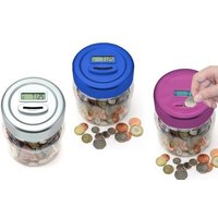 £6.99 instead of £19.99 (from TLD Retail) for an electronic money-counting jar- save 65% - Electronic Gifts