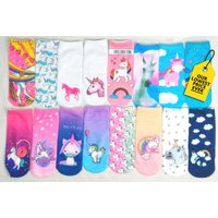 £4.99 instead of £14.99 (from Innova Brands) for four pairs of assorted unicorn socks, or eight pairs for £8.99 - save up to 67% - Brands Gifts