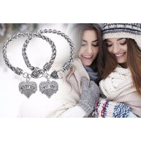 From £4.99 for two sister bracelets from My Boutique Store - save up to 91% - Sister Gifts