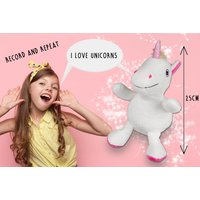 £14.99 instead of £34.99 (from ATRAD) for a talking unicorn with a record and repeat function - save 57% - Talking Gifts