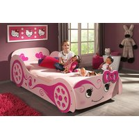 £169 instead of £469.01 (from Magestic Furnishings) for a girls pink princess car bed without mattress, or £249 for one with mat