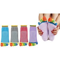 £3.99 instead of £8 (from Paperdollz) for a one pair of anti-slip yoga socks, £5.99 for two pairs, or £9.99 for four pairs - save up to 50% - Yoga Gifts