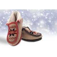 £7.99 instead of £20 for a pair of norway knitted slippers - choose from two colours from MY UL Ltd - save 60% - Slippers Gifts