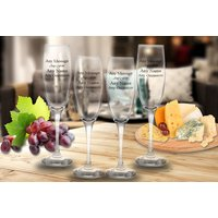 From £5.99 instead of £17.04 (from CNC Group) for a set of personalised engraved Prosecco glasses - save up to 65% - Engraved Gifts