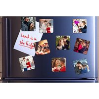 £8.99 instead £55.60 (from Photo Gifts) for a set of 36 50mm x 50mm photo fridge magnets, £9.99 for a set of 36 70mm x 70mm magn