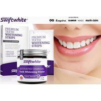 £16 instead of £71.99 (from Swiftwhite) for a charcoal and teeth whitening strips - save 78% - Teeth Whitening Gifts