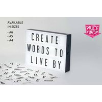 From £7.99 for an A6 light up cinema box with letters,  £8.99 for A5 or £9.99 for A4 from DIRECT2PUBLIK LTD - save up to 84% - Cinema Gifts