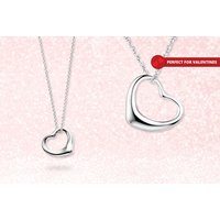 £9.99 instead of £67.51 (from Jewel Unique) for an open heart necklace - save 85% - Jewel Gifts