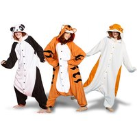 £14.99 instead of £36 (from Zoo Hood) for an adult animal onesie - choose either a Hamster, Tiger or Panda onesie and save 58% - Onesie Gifts