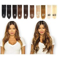 £22 instead of £218 for a seven-piece 22 inch clip-in hair extensions set - choose from 15 colours from Shop Chainz - save 90% - Shop Gifts