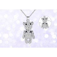 £7.99 instead of £39 (from Your Ideal Gift) for a crystal teddy bear pendant necklace - save 80% - Teddy Gifts